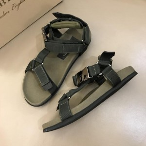 Burberry Green Sandals With Black Canvas MS02583