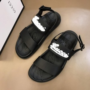 Gucci Black Sandals With LV Signative MS02661