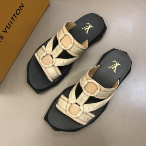 Louis Vuitton black and yellow Sandal MS02807