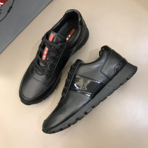 Prada Fashion Sneakers Black and black soles MS02928