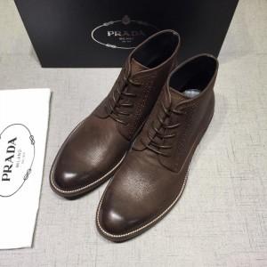 Prada Brown Martens Boots MS071183