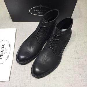 Prada Black Martens Boots MS071184