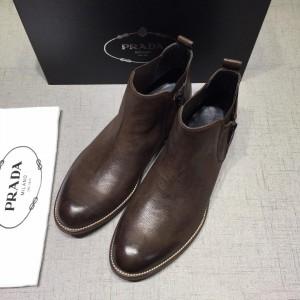 Prada Brown Chelsea Boots MS071185