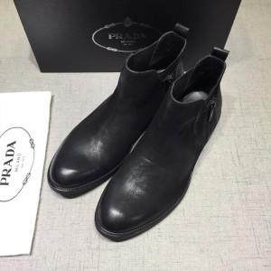 Prada Black Martens Boots MS071186