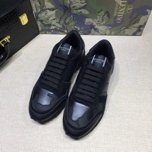 Valentino Perfect Quality Sneakers Black and black heel with black sole MS071434