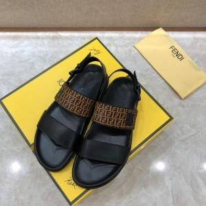 Fendi black Sandals with FF Monogram MS07235