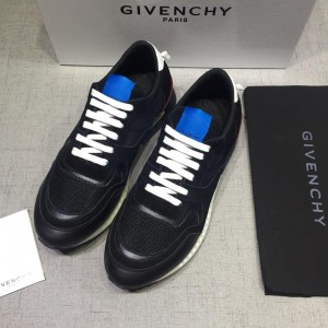 Givenchy Fashion Sneakers Black and white heel with blue tongue MS07431