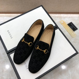 Gucci Jordaan GG velvet loafer MS07508