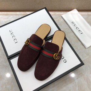 Gucci BrownSlipper with double G MS07515