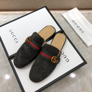 Gucci GraySlipper with double G MS07516