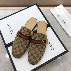 Gucci brownSlipper with double G MS07518