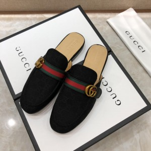 Gucci blackSlipper with double G MS07519