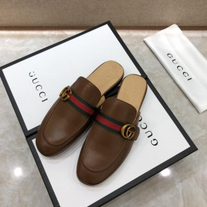 Gucci brownSlipper with double G MS07521