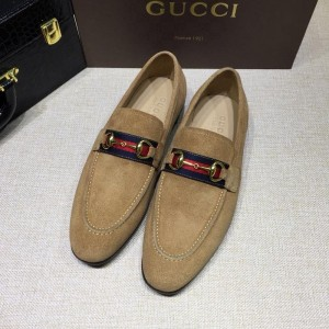 Gucci Brown Suede leather Perfect Quality Loafers MS07543