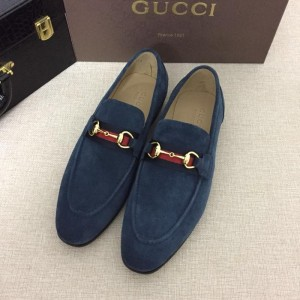 Gucci Blue Suede leather Perfect Quality Loafers MS07544
