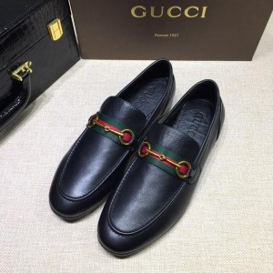 Gucci Black Leather loafer MS07552