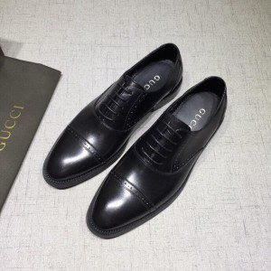 Gucci Black Leather loafer MS07590