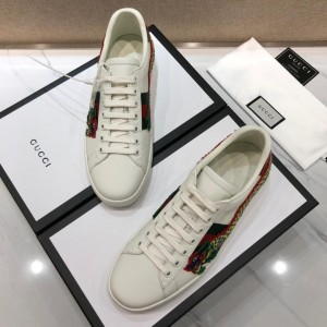 Gucci Fashion Sneakers White and dragon embroidery with white sole MS07734
