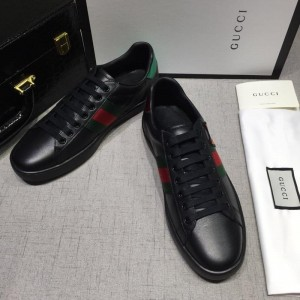Gucci Fashion Sneakers Black and cat embroidery with black sole MS07761
