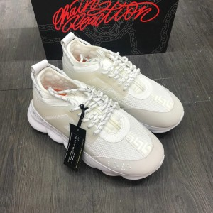 Versace Sneakers White and beige toe with white rubber sole MS09315