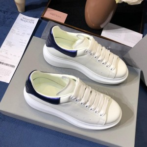 Alexander McQueen Fahion Sneakers White with blue heel MS100005