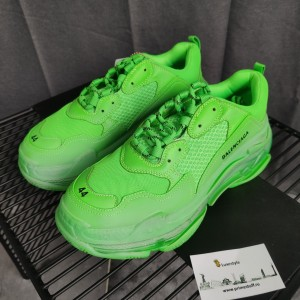 Balenciaga Fashion Sneaker Green and Transparent sole MS10001