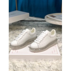 Alexander McQueen Fahion Sneaker White and transparent sole MS100023