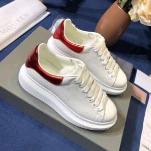 Alexander McQueen Fahion Sneaker White and red heel MS100066