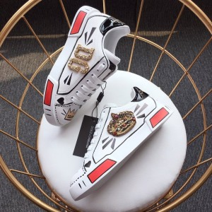 Dolce & Gabbana White and DG Crown Theme Packaging with White Sole Sneakers MS110008