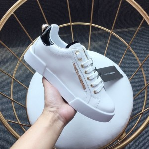 Dolce & Gabbana White and black heel with white sole Sneakers MS110052