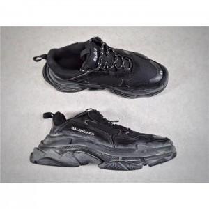 High Quality Balenciaga Triple S Sneaker Black shoe body/Transparent sole/Black mesh cloth 8DF2A627F179