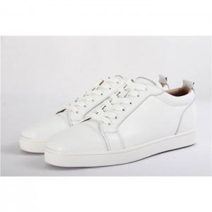 High Quality Christian Louboutin Louis Junior Flat White Low Top Calf Sneaker