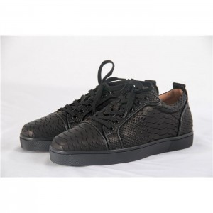 High Quality Christian Louboutin Black Snake Low Sneakers