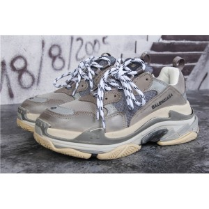 High Quality Paris TRIPLE S TRAINER Cool Grey