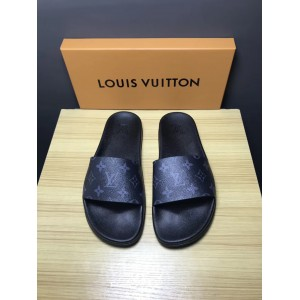 High Quality Louis Vuitton Palm Slippers in Balck OF_86736F48C709