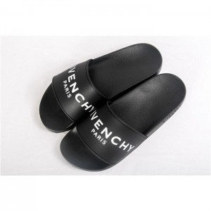 High Quality Givenchy Logo Polyurethane Slide Sandals In Black SN_741C63028BCD