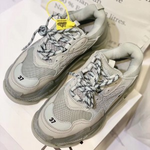 Balenciaga Perfect Quality Sneakers White and Transparent sole with White mesh cloth MS09311 Updated in 2019.08.16